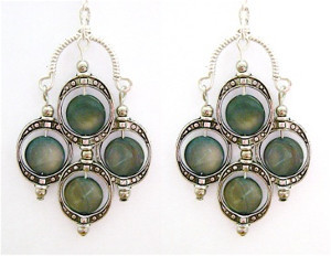 Enchanting Blue-Eyed Drop Earrings