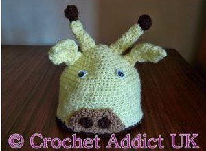 Silly Giraffe Crochet Baby Hat