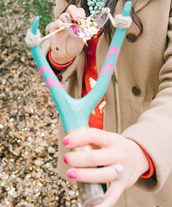Slingshot Confetti Wedding Sendoff