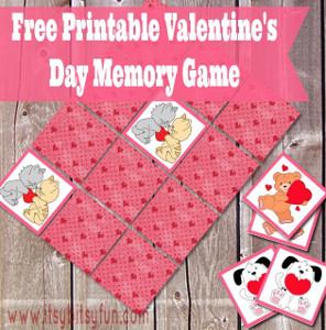 Printable Valentine Memory Game