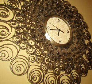 Faux Brass Wall Clock Decor