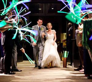 Glowing Wedding Send Off Idea