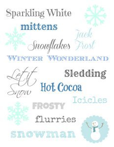 Wonderful Winter Wonderland Printable