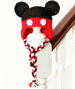 Mickey Mouse Crochet Hat Pattern