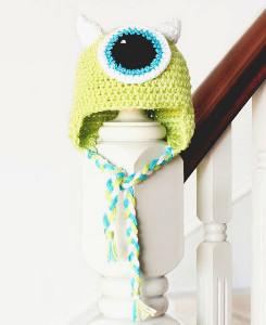 Monster's Inc. Crochet Baby Hat