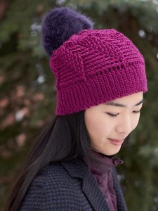Radiant Orchid Pom Hat