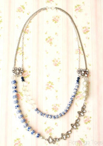Blue Willow Statement Necklace