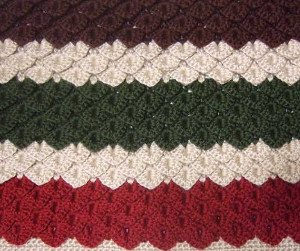 Ruby and Emerald Crocodile Stitch Blanket