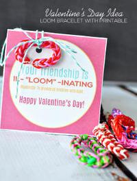 Easy Rainbow Loom Printable Valentines