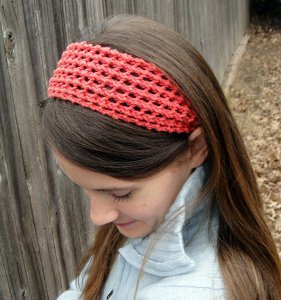 Coral Lace Headband