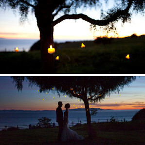 Suspended Outdoor Wedding DIY Lighting