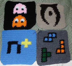 Pac-Man Crochet Square