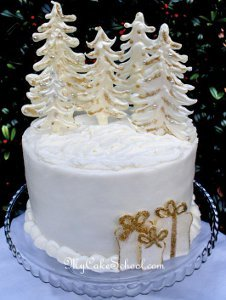 Winter Wonderland Wedding Cake Designs