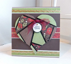 Faux-saic Heart Card