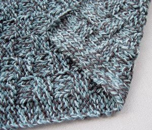 Bluebell Basketweave Scarf