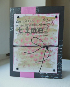 Pink and Black Forgotten Time Card