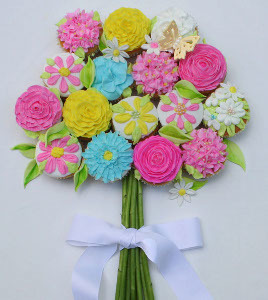 Beautiful Bouquet Cupcake Designs