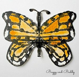 Monarch Butterfly Symmertry Art
