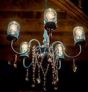 Rustic Wedding Mason Jar Chandelier