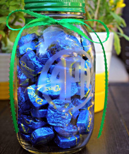 Monogrammed Mason Jar Crafts