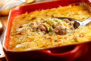 Hot Sausage and Rice Casserole