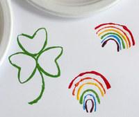 St. Patrick's Day Stamp Art