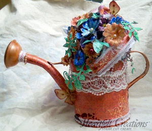 Overflowing Blossoms Watering Can
