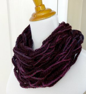 Eggplant and Orchid Cowl