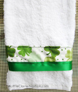 Dollar Store Handmade Towels