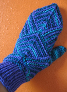 Winter Blues Mitered Mittens