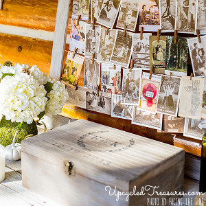 Antiqued Rustic Wedding Guestbook Keepsake Box