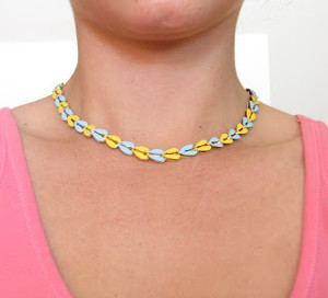 Painted Color Pattern Necklace
