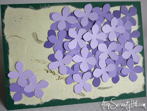 Purple Hydrangeas Card