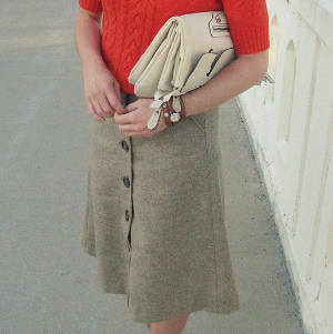 Sassy Secretary Upcycled Skirt
