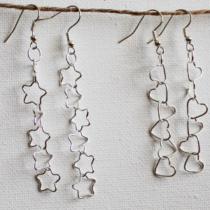 Falling Stars and Tumbling Hearts Earrings