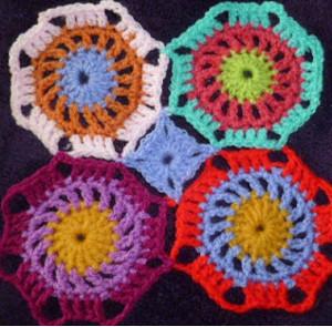 Octagon Baby Afghan Crochet Pattern : Chinese Octagon Tiles AllFreeCrochetAfghanPatterns.com