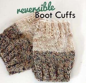 Two-Toned Boot Cuffs   AllFreeKnitting.com