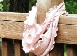 Rosy and Ruffled Infinity Scarf
