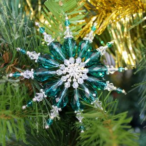 Gorgeous Beaded Star Ornament