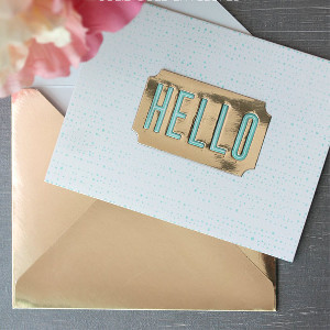 Oscar-Worthy Pure Gold DIY Envelope