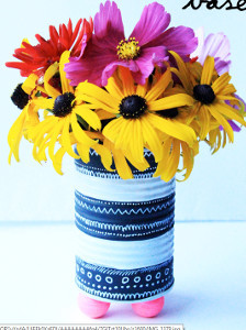 Upcycled Tin Can Vase