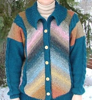 Men's Chevron Knit Cardigan