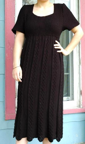 Elegant Empire Waist Knit Dress Pattern