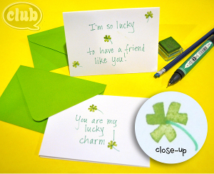 DIY Shamrock Stationery