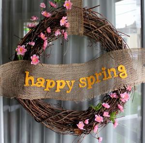 Simple Spring Wreath