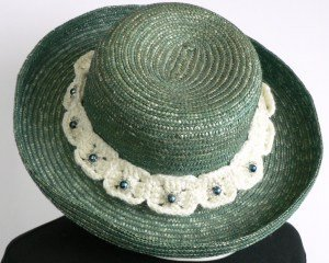 Summer Crochet Hat Band