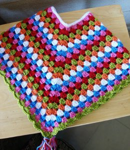 Candy Crush Crochet Poncho