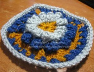 Popcorn Crochet Flower