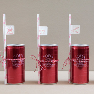 Sip 'n Sit DIY Wedding Place Cards