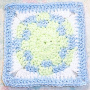 Small Sunburst Granny Square